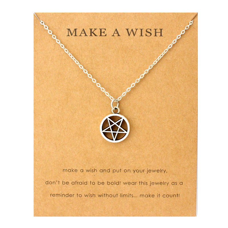 Moon Star Pentagram Pendants Necklaces Acorn Pine Ice Skates Wings Music Charms Women Men Unisex Fashion Jewelry Friend Gift