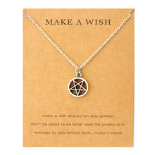 Moon Star Pentagram Pendants Necklaces Acorn Pine Ice Skates Wings Music Charms Women Men Unisex Fashion Jewelry Friend Gift(China)