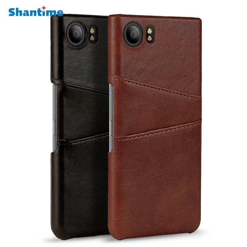 For BlackBerry KEYONE Case Luxury Retro Leather Case Back Cover For BlackBerry Mercury DTEK 70 Cases(China)