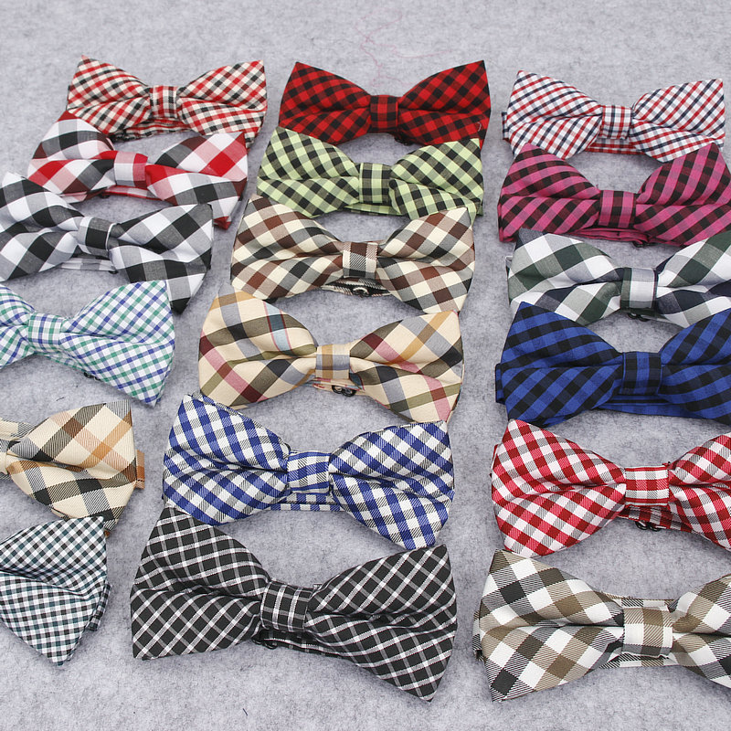 2018 Brand New Men's Fashion Colorful Plaid Vintage Bowtie For Man Wedding Check Corbatas Gravatas Neck Bow Tie Butterfly