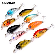 Купить с кэшбэком 4cm 4.5g Swim Fish Fishing Lure Artificial Hard Crank Bait topwater Wobbler Mini Fishing Crankbait lure swing Swim Accessories