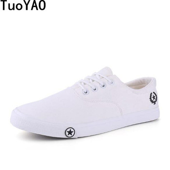 New 2019 Spring Autumn Fashion Men Casual Shoes High Quality Men Canvas Shoes Breathable Lace up Flats Men Sneakers