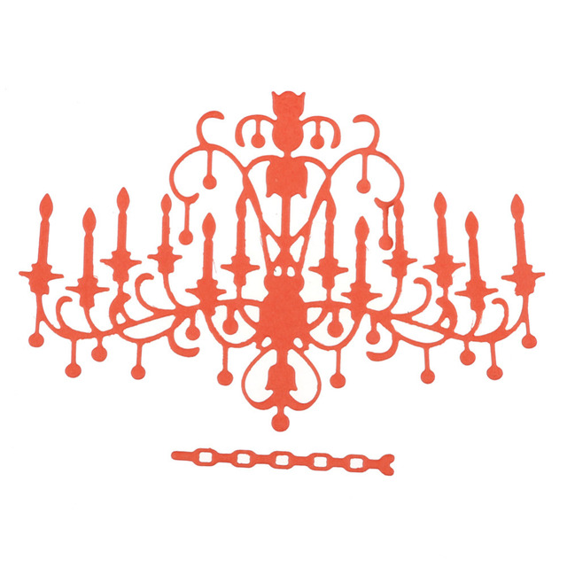 Chandelier metal cutting dies stencils for scrapbooking paper cards chandelier metal cutting dies stencils for scrapbooking paper cards crafts diy 2017 new aloadofball Images