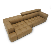 Top Cow Genuine Real Leather Sofa Sectional Living Room Sofa Corner Home Furniture Couch L Shape