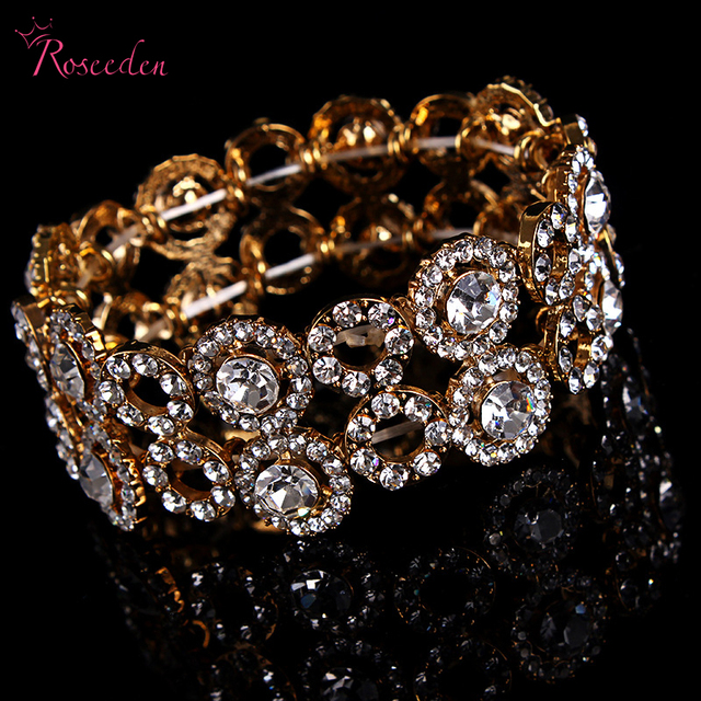 6044f47a3905 Charm Rome Style Bracelet Bangle Women Accessories bride wedding crystal  jewelry Shiny Bracelet for women Gift