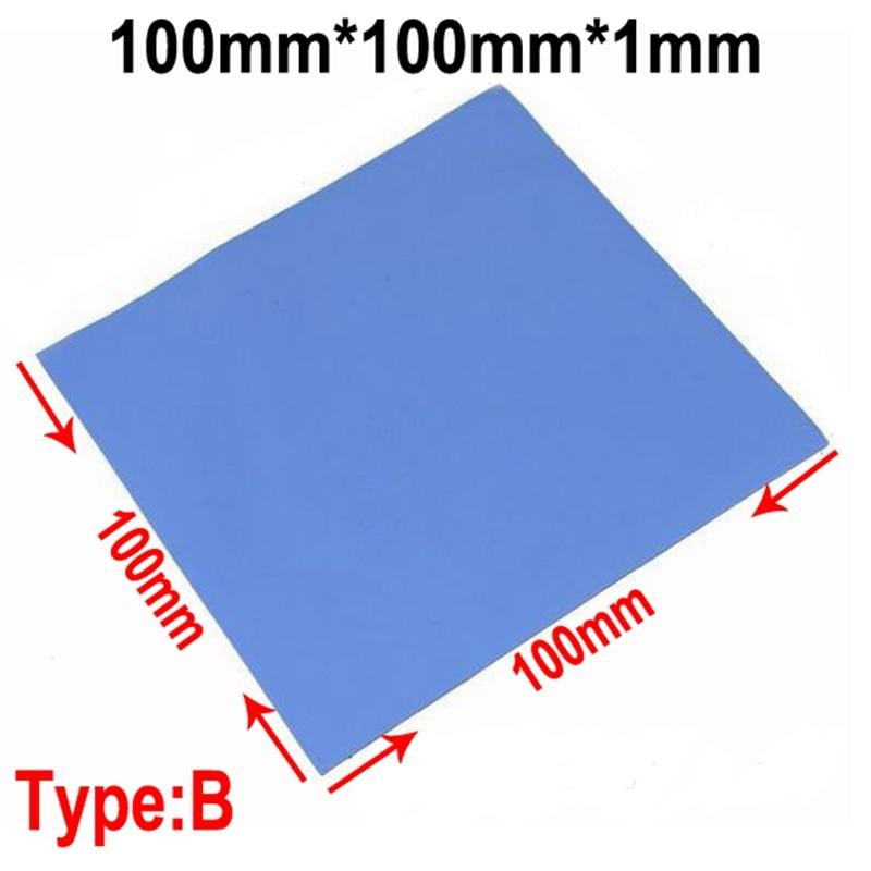 100 Pcs Blue 10mm*10mm*1mm GPU CPU Heatsink Cooling Conductive Silicone Pad Thermal Pad 3