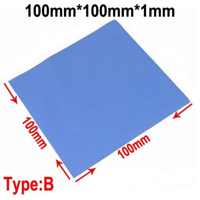100 sztuk niebieski 10mm * 10mm * 1mm GPU CPU radiator chłodzenia przewodząca podkładka silikonowa podkładka termiczna