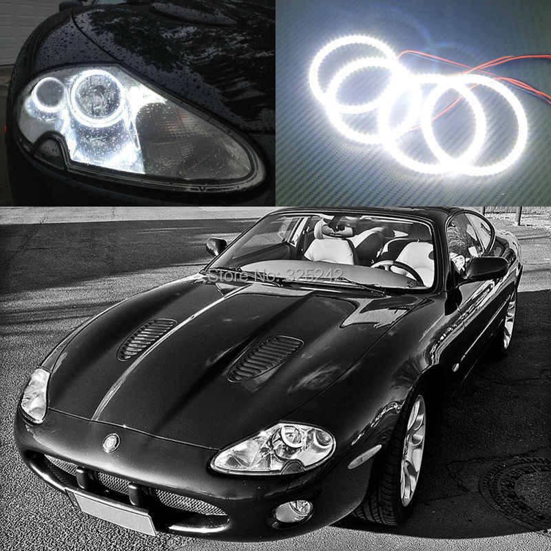 For Jaguar XK8 XKR X100 Portfolio 1996-2006 Excellent angel eyes Ultrabright illumination smd led Angel Eyes Halo Ring kit