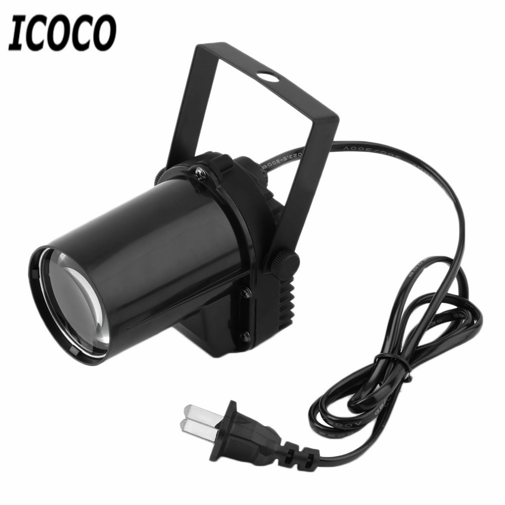 8w 48leds seven color sun pattern plastic stage lamp ac 90 240v - Icoco 3w Led Spin Stage Effect Lighting Ac 90 240v Party Spotlight Light Us Plug