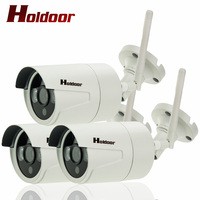 3 Pcs Onvif IP Cameras WIFI Megapixel 1080P HD Outdoor Wireless Security CCTV Cam Infrared SD