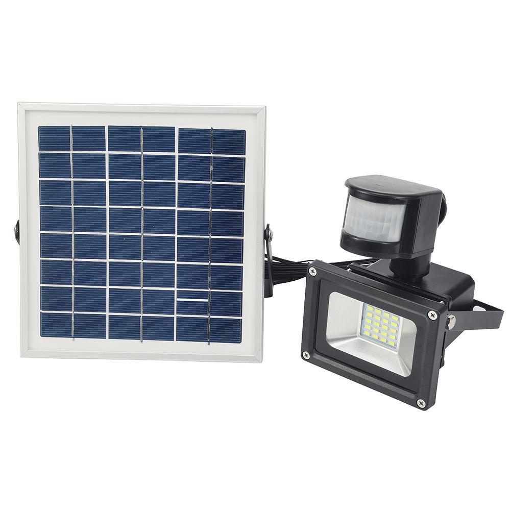 GERUITE 10W LED ηλιακός προβολέας με αισθητήρα κίνησης PIR 5730 SMD DC12V 24V ψυχρό λευκό 6000K-6500K 700LM εξωτερικός προβολέας