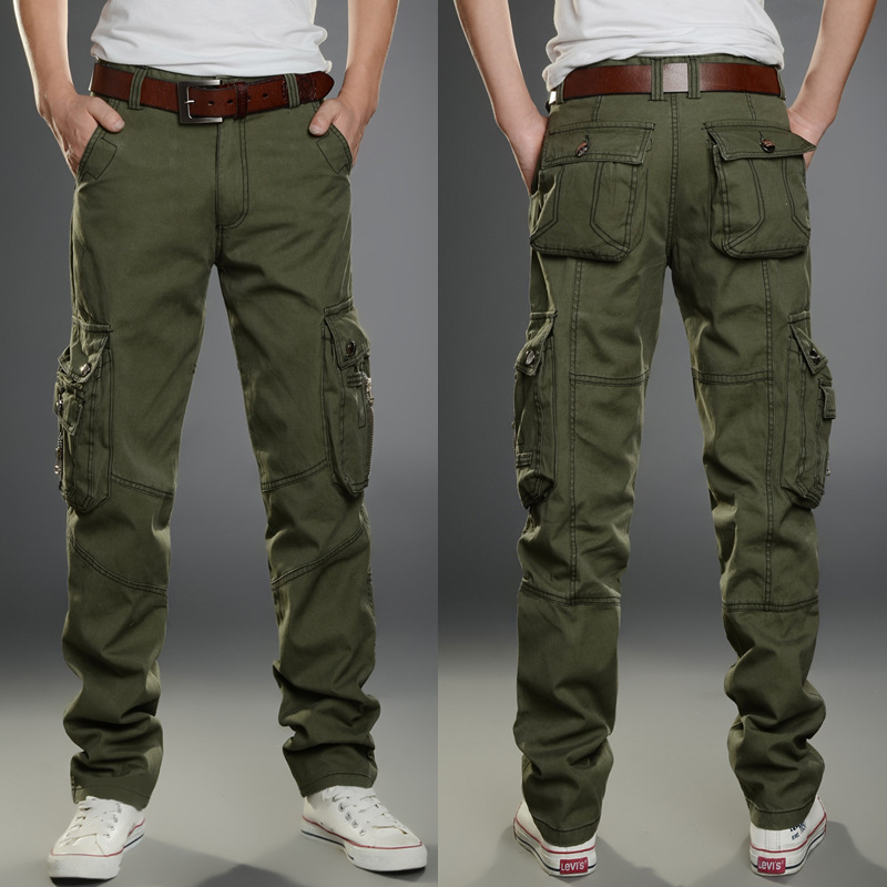 2019 Brand Mens Military Cargo Pants Multi-pockets Baggy Men Pants Casual Trousers Overalls Army Pants Cargo Pants high quality(China)