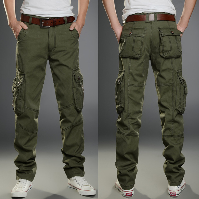 2020 Brand Mens Military Cargo Pants Multi-pockets Baggy Men Pants Casual Trousers Overalls Army Pants Cargo Pants high quality 1