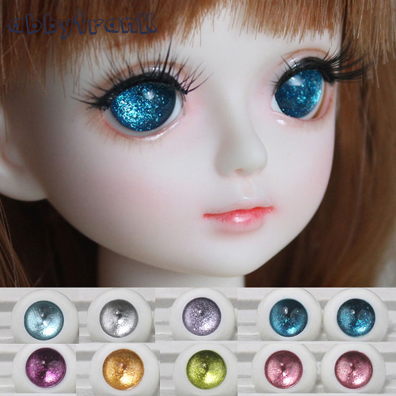 Abbyfrank Toy Eyes BJD Acrylic Doll Eyes Doll Accessories 1Pair 1/4 1/6 1/8 BJD Doll Eyes12mm 14mm 16mm 18mm Half Round Eyeball handmade chinese ancient doll tang beauty princess pingyang 1 6 bjd dolls 12 jointed doll toy for girl christmas gift brinquedo