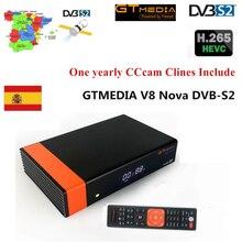 Спутниковый ТВ-приемник Gtmedia V8 Nova power от freesat V8 Super Receptor встроенный wifi DVB-S2 H.265 1 год Европа cline tv Box