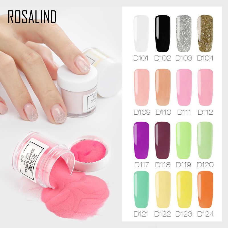 ROSALIND 10 г погружающийся порошок для ногтей Natura и блеск цветной набор голографический блеск для дизайна ногтей порошок нет необходимости лампа для лечения маникюра