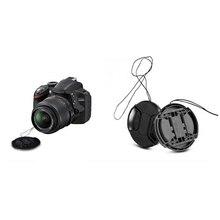 new arrival Durable 52 Mm Front Lens Cap Center Snap On Lens Cap For Nikon+ Leash Multi-Functional