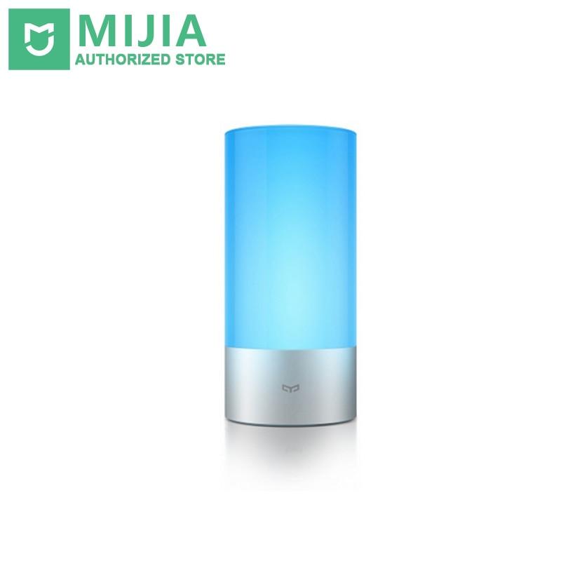 imágenes para Original xiaomi yeelight inteligente luces lámpara de la mesita de cama cubierta 16 millones de luces rgb bluetooth touch control para mijia app