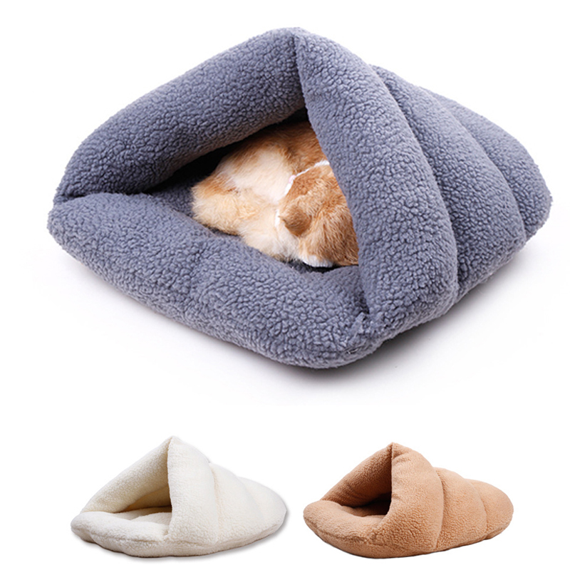 Slipper Shape Pet House Comfortable Cat Sleeping Bag Warm Bed Kennel Puppy Dog Fleece Cushion Cave