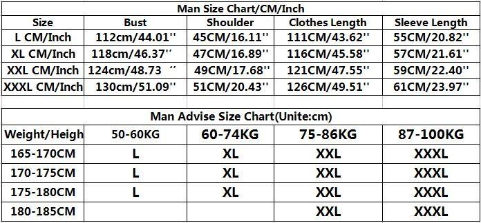 Man size chart 2
