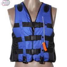 Водные виды спорта полиэстер взрослых спасательный Универсальный Открытый плавание на лодках лыжи Спасательный жилет костюм для выживания со свистком S-XXXL