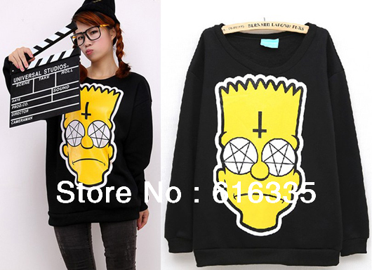Fashion Bart Simpsons Kill Star Harajuku Street Loose Long Sleeve