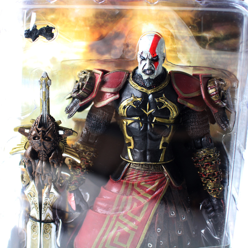20cm New Hot Toy NECA God War Kratos in Ares Armor with Medusa Head PVC  Action Figure Collectible Model Toy For Kids Gift