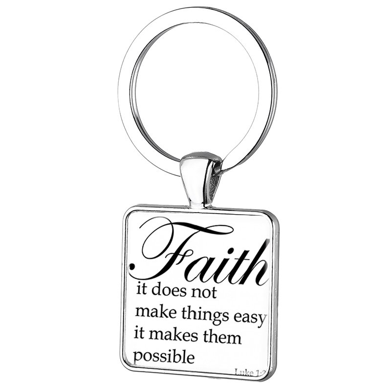 FAITH MAKES THINGS POSSIBLE NOT EASY JESUS License Plate Frame
