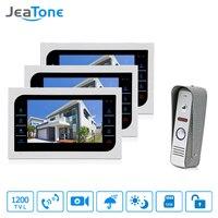JeaTone 7 Inch TFT LCD Door Phone Video Doorbell System IR Night Vision Camera Video Intercom