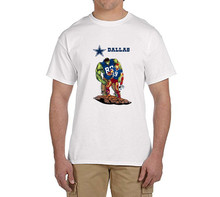 Hulk Playing With Iron Man cowboys T shirt Creative Design T-shirt Funny Fashion Tee  100% cotton dallas mens t shirt