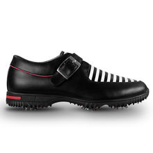 PGM Men s Golf Shoes Genuine Leather Sports Sneaker Shoes British Style Waterproof Breathable Black