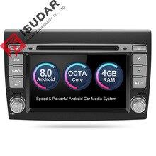 Isudar Автомобильный мультимедийный плеер Android 8,0 gps 2 Din стерео Системы для Fiat/Bravo 2007-2012 Octa Core 4 ГБ Оперативная память радио am, fm Wifi USB