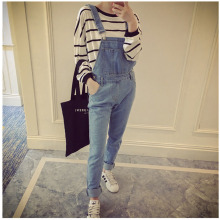 Korean Style Summer Denim Jumpsuits 2019 Fashion Women s Overalls Female Hole Preppy Style Loose Slim