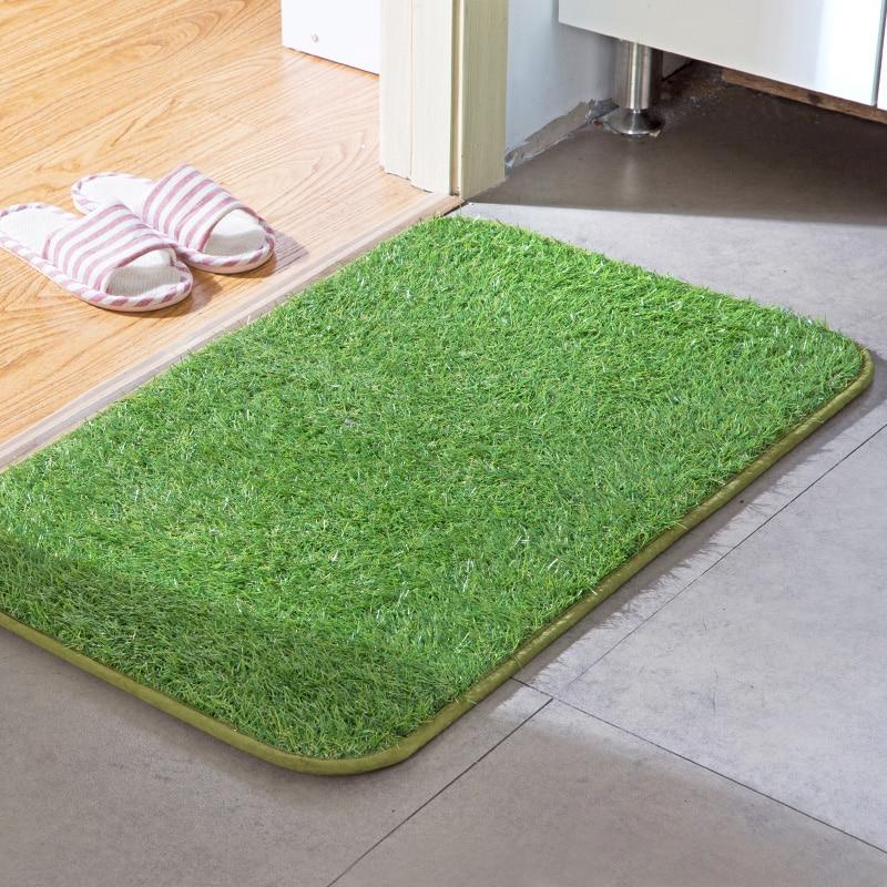 Simulation turf mats mattresses living room entrance door mats bedroom anti-skid pads fiber silk floor mats