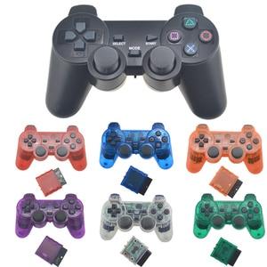 Image 1 - Para ps2 controlador sem fio gamepad manette para playstation 2 controle mando sem fio joystick para ps2 console acessório