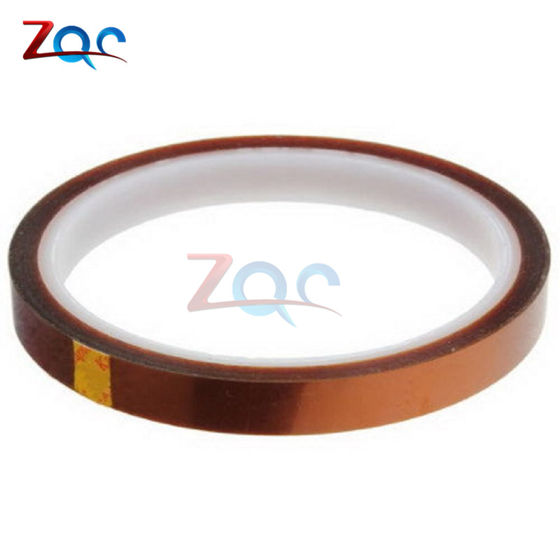 High Temperature Resistant Tape Roll Gold 10mm Width 100ft Heat Resistant Adhesive Polyimide Insulation Thermal Tape For BGA reparing plastic hardware high temperature resistant wire roll black 250m
