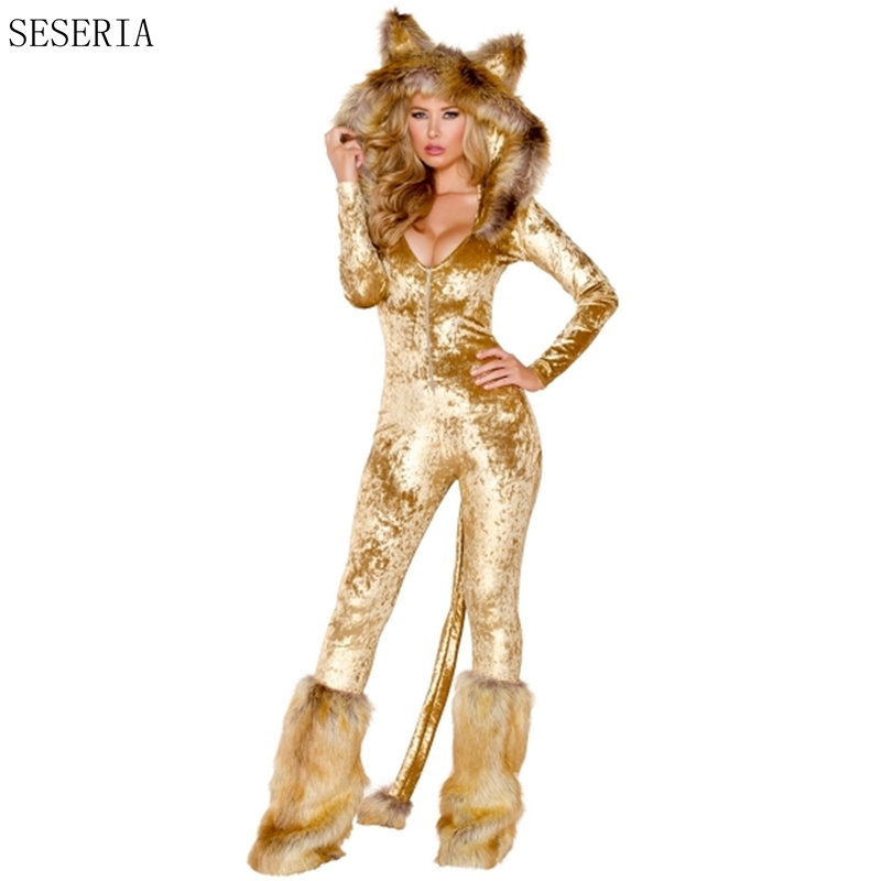 SESERIA Adult Fox Costume Womenu0027s Furry Costume Sexy Animal Cosplay Hoodie Plush Leg Warmers Set Carnival Costume-in Sexy Costumes from Novelty u0026 Special ...  sc 1 st  AliExpress.com & SESERIA Adult Fox Costume Womenu0027s Furry Costume Sexy Animal Cosplay ...