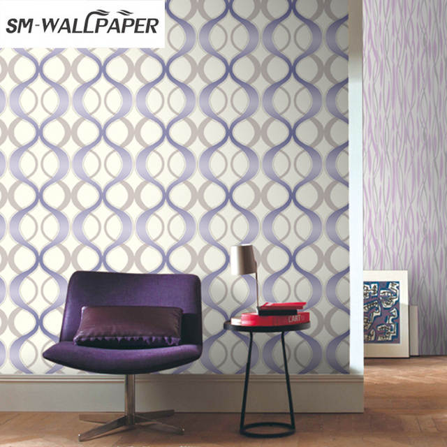 Wholesale Price Modern Geometric Wave Design Living Room Wallpaper