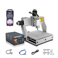 Mini 3040 cnc milling machine 1.5KW 3axis in wood router with mach3 remote controller software lpt intereface board
