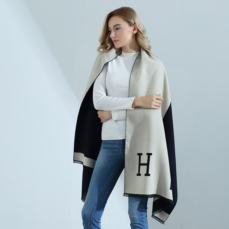 Women Autumn Winter High-quality Cashmere   Scarf   Lady Thick Warm Pashmina Brand Designer Shawl Women   Wraps