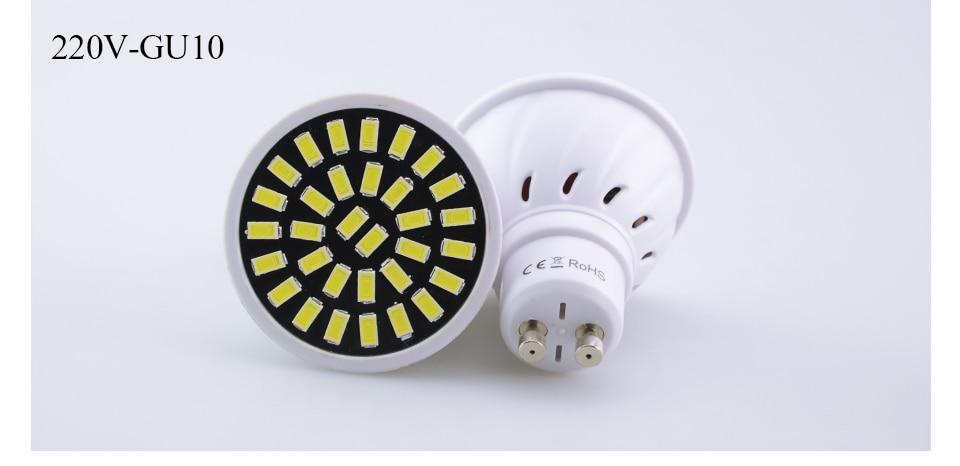 Led Spotlight Bulb E27 GU10 MR16 Led Lamp 220V 5W 7W 9W 18 24 32 Leds 5733 Bombillas Lampada (19)