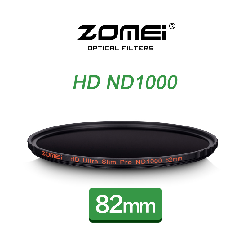 ZOMEI 82mm ND1000 Filter Pro 10 Stop HD MC Optical Glass Neutral Density ND 3.0 1000 Filter for Canon Nikon Sony Pentax DSLR Len цена