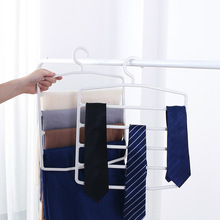 Multi Layer Plastic Hangers Pants Trousers Holder For Scarves Storage Closet Organizer Space Saver Racks Home