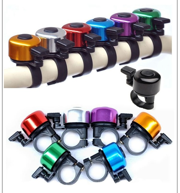 Hot Aluminum Alloy Loud Sound Bicycle Bell Handlebar Safety Metal Ring Environmental Bike Cycling Horn Multi Colors