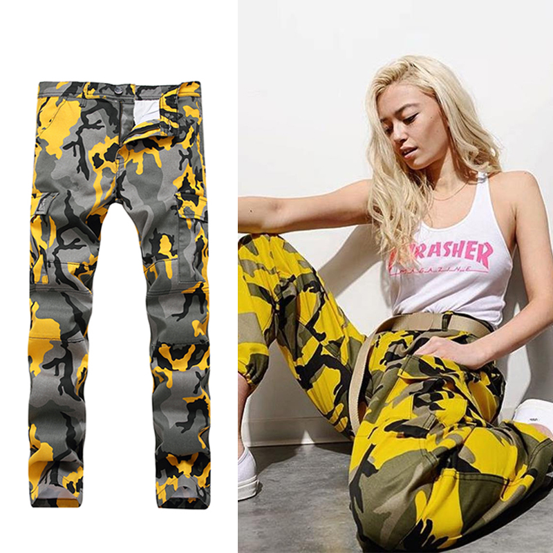 Fashion 2017 Women Men Casual Loose Printed Cargo Pants Fancy Army Hip Hop Pant  camouflage Overalls Trousers Plus Size b38ecd30dd