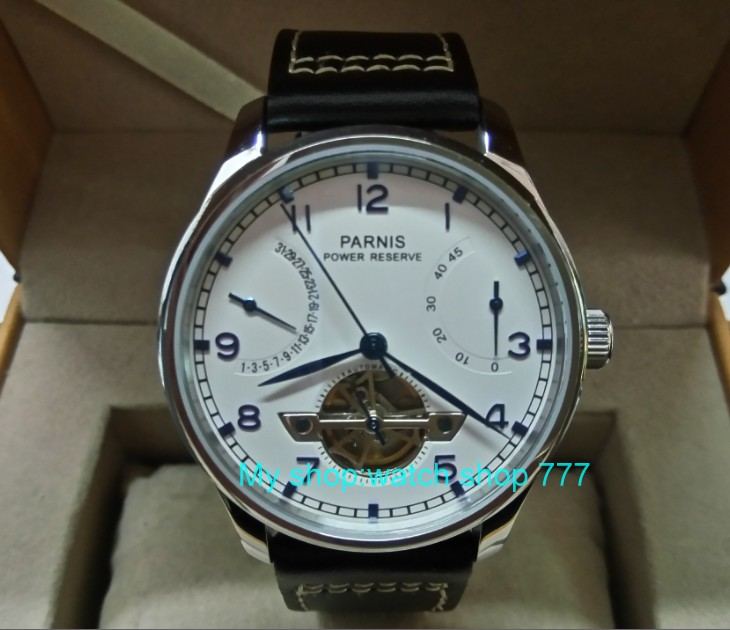 43mm Parnis Automatic Self-Wind Mechanical movement Power Reserve Mechanical watches Men's watches wholesale xX36 pupa лак для ногтей lasting color gel 014 мечта принцессы