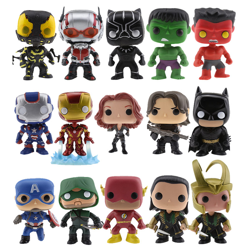 Super Hero DC&MC Universe Comics Iroman Batman Hulk Panther Antman Action Figure Collectible Model Bobble Head Q Edition Toys batman detective comics volume 9 gordon at war