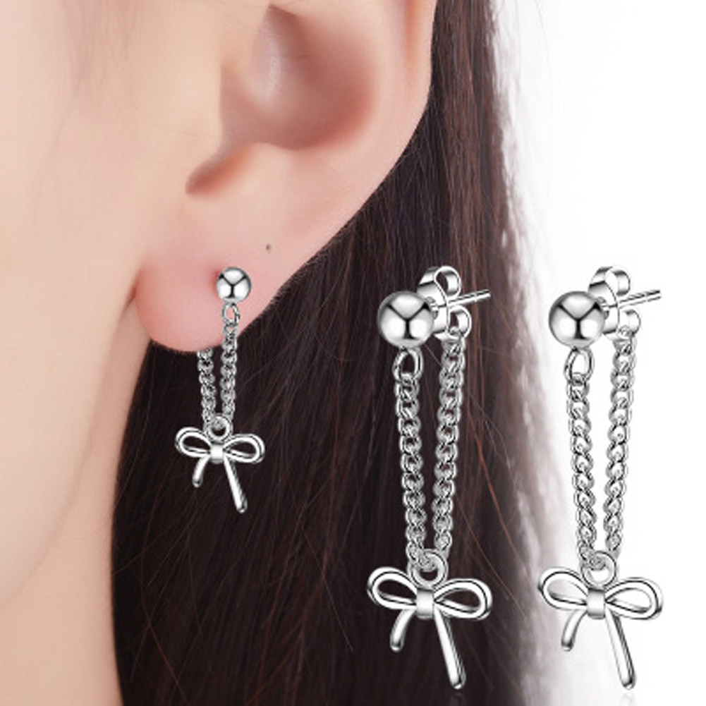 Charm Butterfly Knot Cute Girl Women Jewelry Luxury Football Earrings