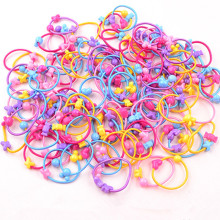 цена на 50PCS/Lot Cartoon Lovely Stars Children Elastic Hair Band Rubber Bands Ponytail Holder Elastic Headwear Girls Hair Accessories