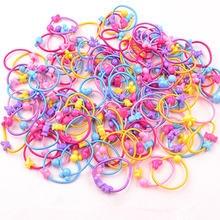 50pcs/lot cartoon lovely stars children elastic hair band rubber